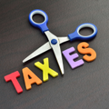 cut taxes sign