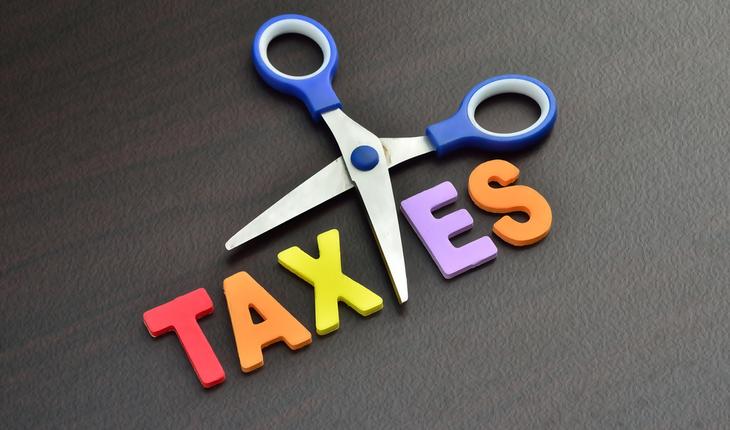 cut taxes sign