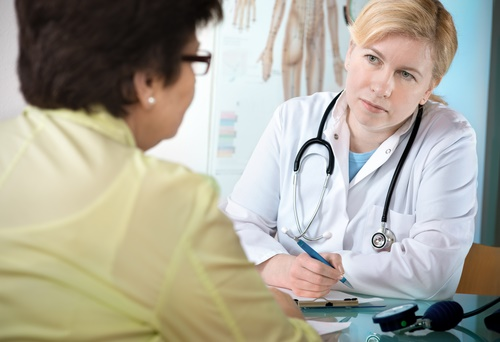 doctor and woman patient