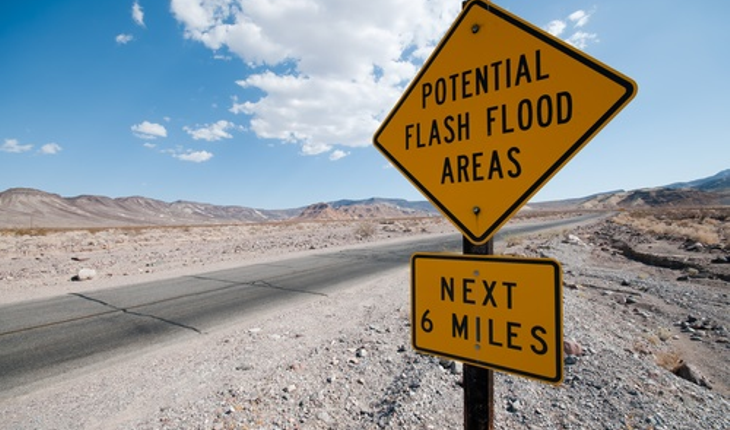 flash flood sign