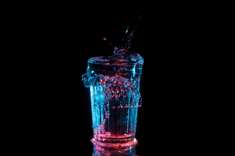 glass spilling over