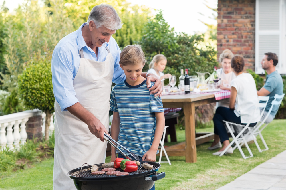 grandfather-barbeque