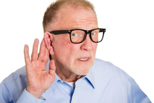 hard of hearing