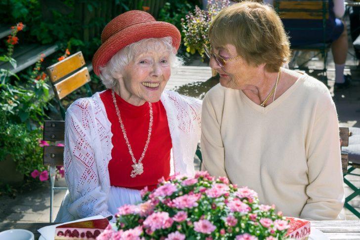 healthy, cheerful older women