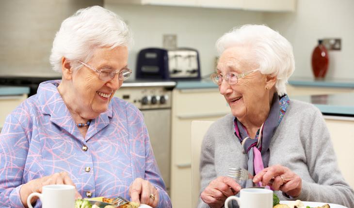 healthy elderly women