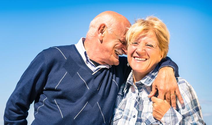 healthy, happy elderly people