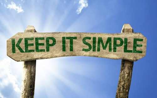 keep it simple sign