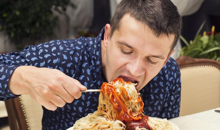 large protion of pasta