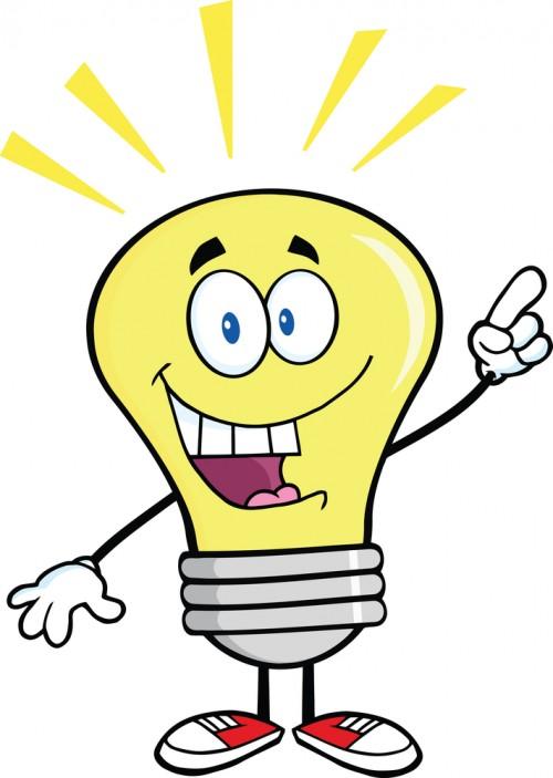 light bulb, good idea