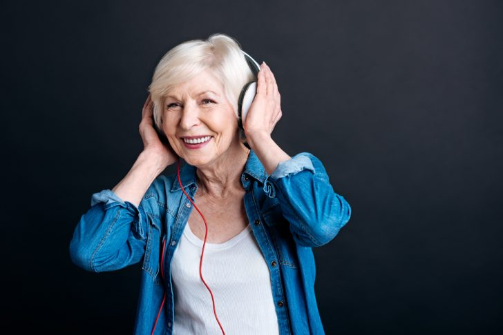 listening to music, happy