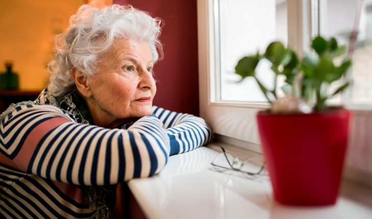 lonely older woman
