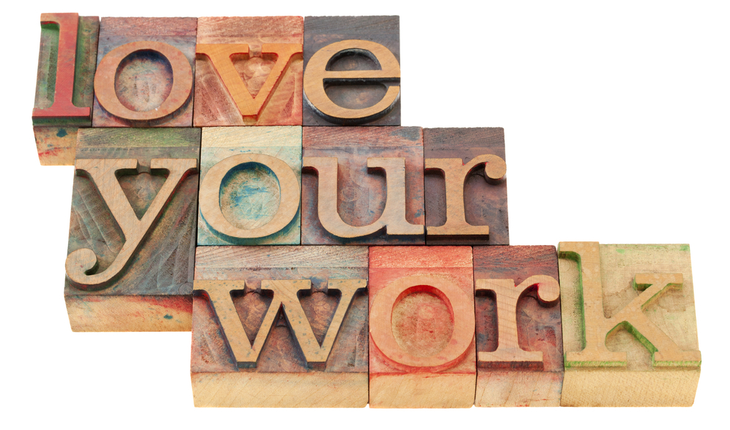 love your work block sign