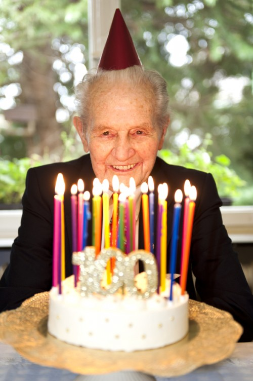 man's 100th birthday