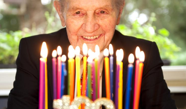 man's 100th birthday