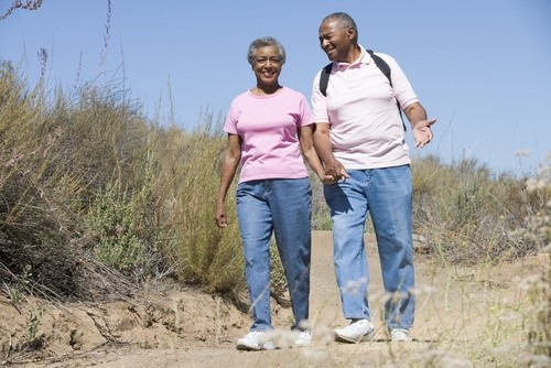 mature-African-American-couple-exercising