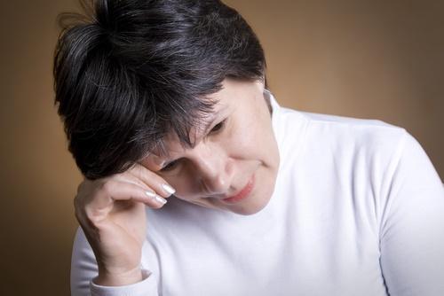mature anxious woman