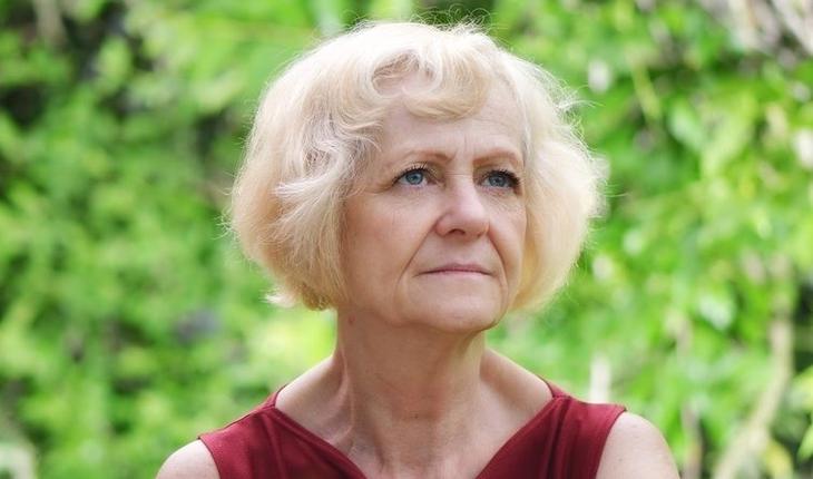 mature blonde woman