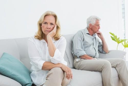mature couple angry