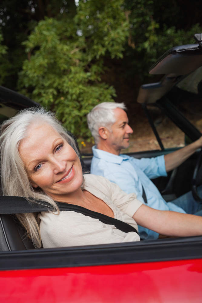 mature couple road trip