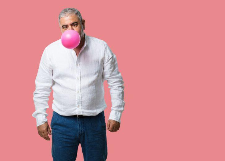 mature-man-chewing-gum