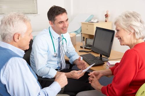 mature woman doctor visit