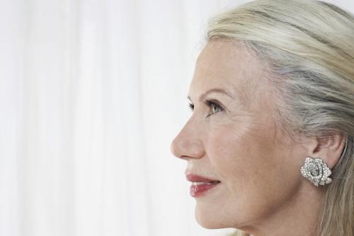 mature woman earrings