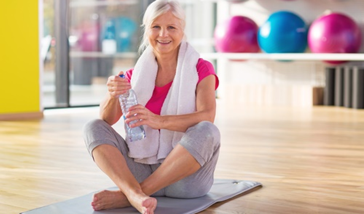 mature woman in gym