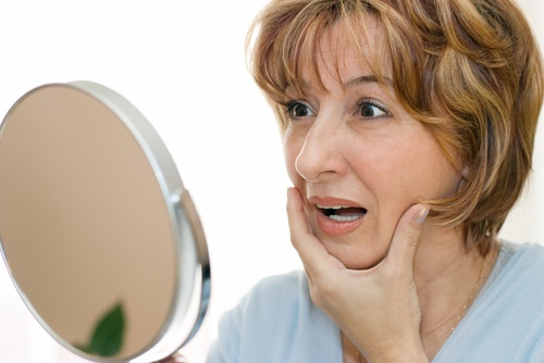 mature woman mirror