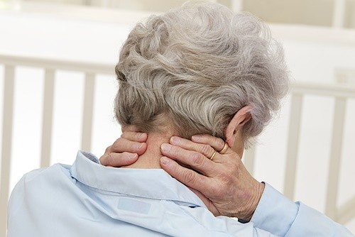 mature woman neck pain