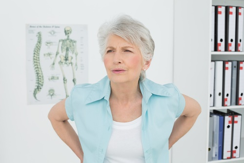 mature woman with back pain