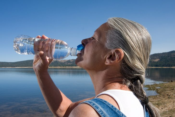 maturewoman-drinking-water