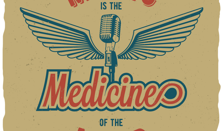 music is the medicine of the mind sign