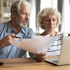 older couple worried about money