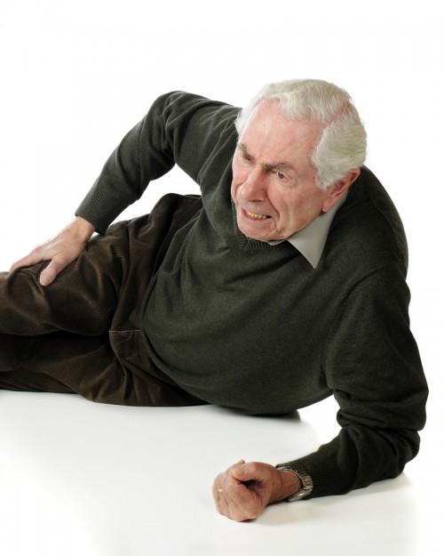 older man fell down