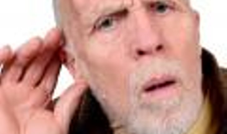 older man, hearing loss