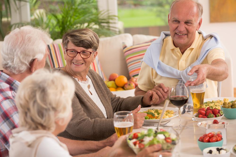 older people eating