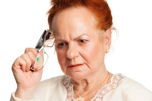 older woman, senior moment