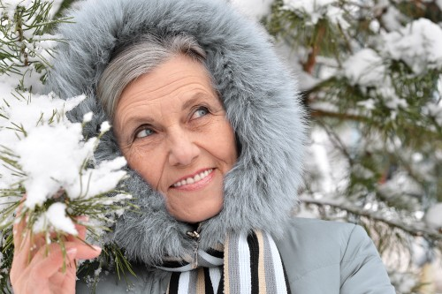 olderwoman in winter