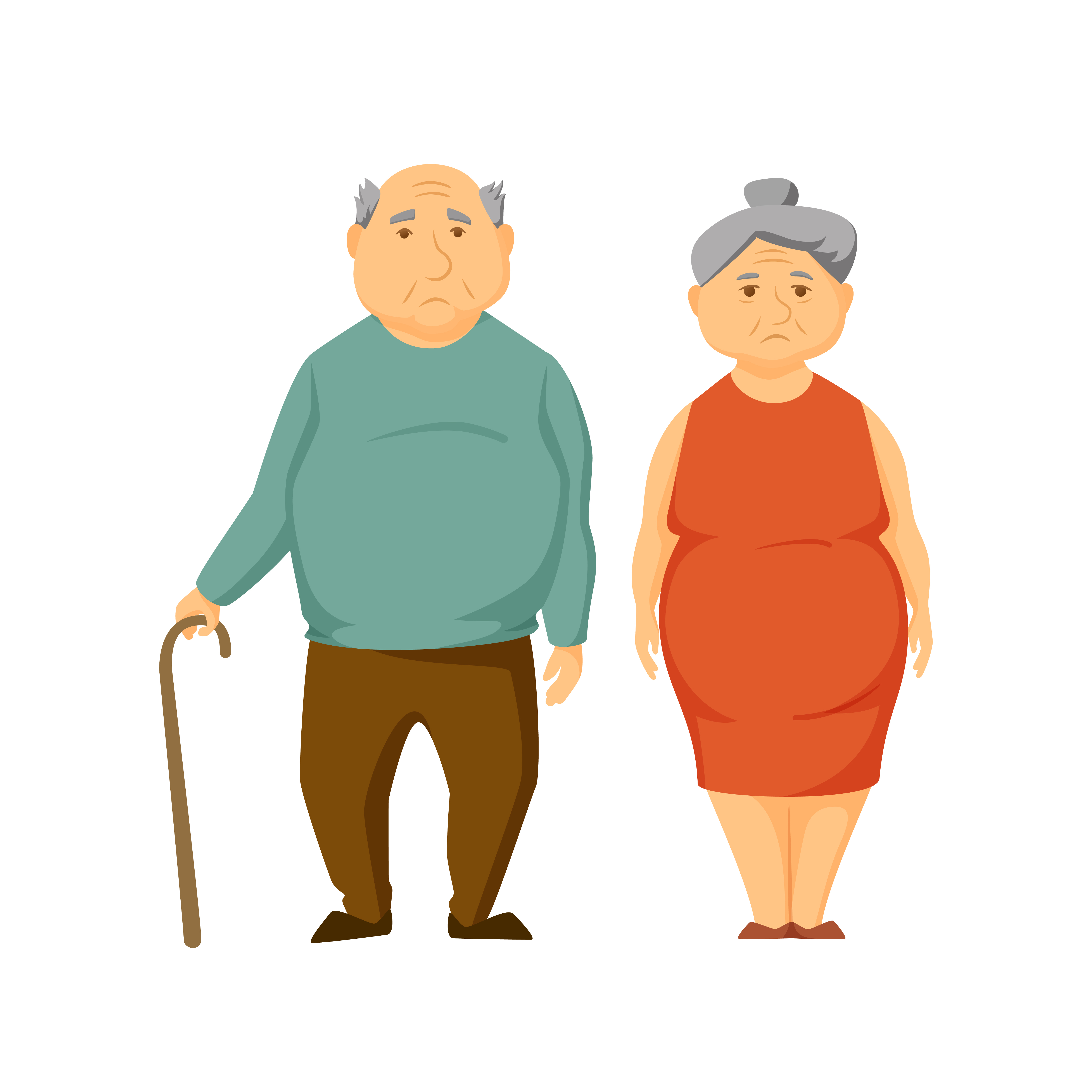 overweight couple cartoon