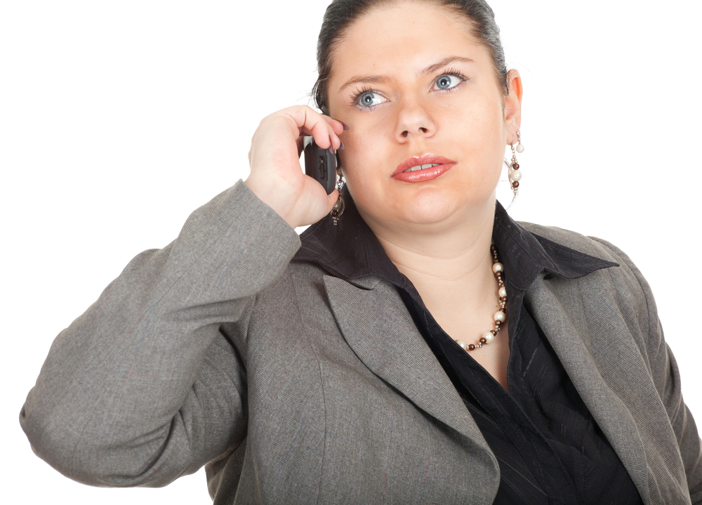 overweight-woman-on-phone