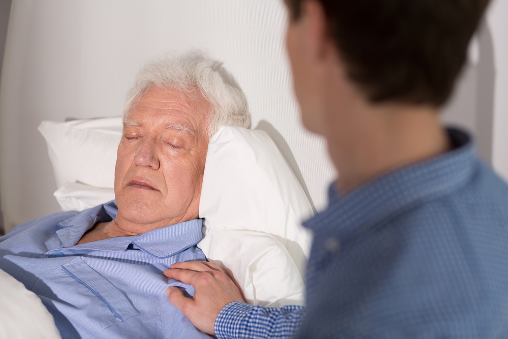 patient asleep or in a coma
