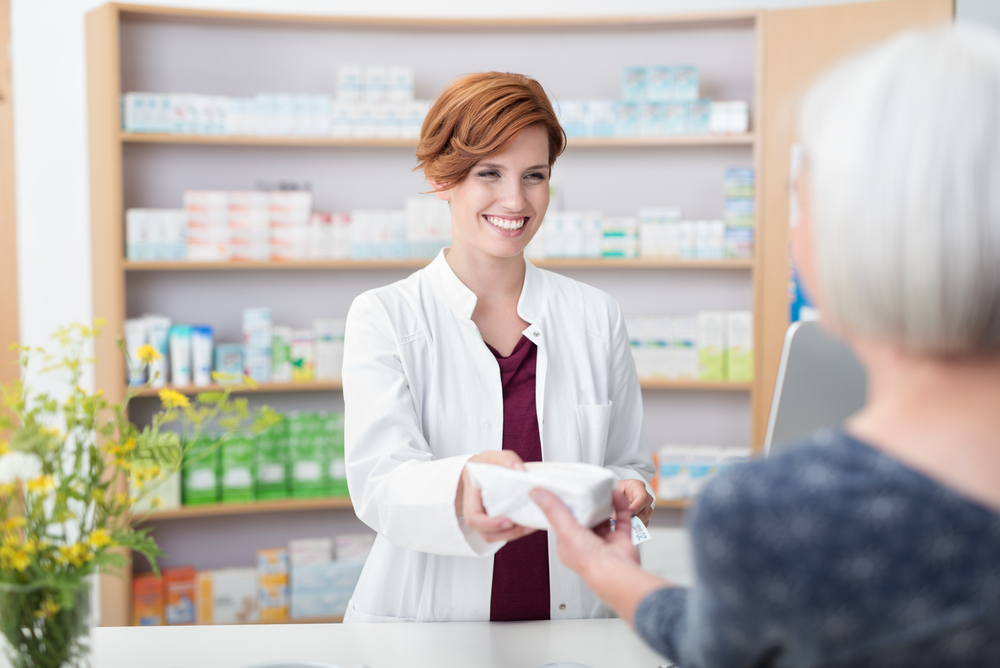pharmacist and mature woman