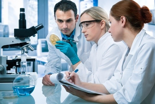 researchers in research lab