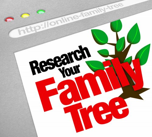 research your family tree web page