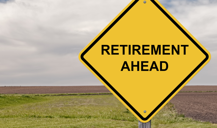 retirement ahead sign