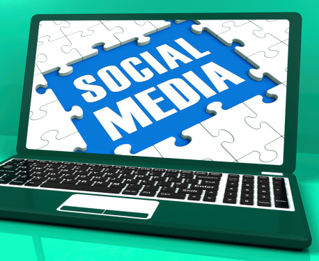 Social Media On Laptop Shows Online Relation