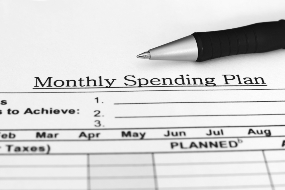 monthly spending plan