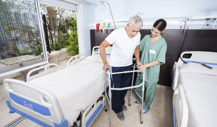 walking hospital patient