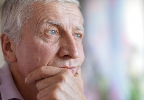 worried older man