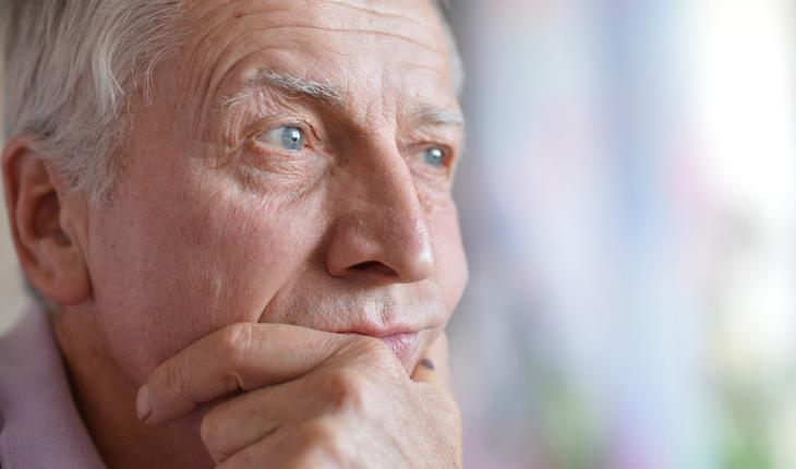 worried older man